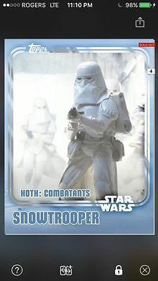 Topps Star Wars Digital Card Trader White Hoth Snowtrooper Insert