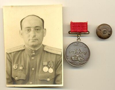 RUSSIAN red SOVIET star  MEDAL ORDER FOR VALOUR and photo  ( 1219)