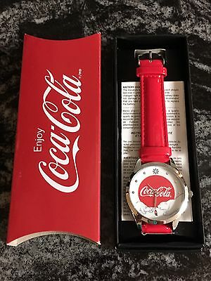 "2016 Avon Coca Cola Polar Bear Watch 9"" Enjoy Coke Christmas Bears"