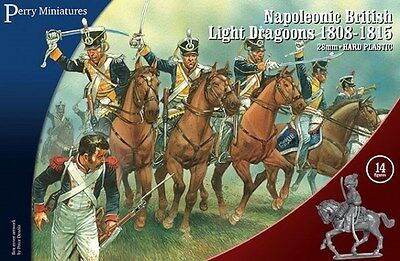 Perry Miniatures Napoleonic British Light Dragoons 1808-1815 28mm Scale BH-130