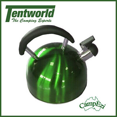 CampEzi Stainless Steel 2.5L Kettle Green