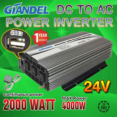 Power Inverter M Sine Wave  2000W/4000W 24V-240V+Remote Control Of 4.5 Meter