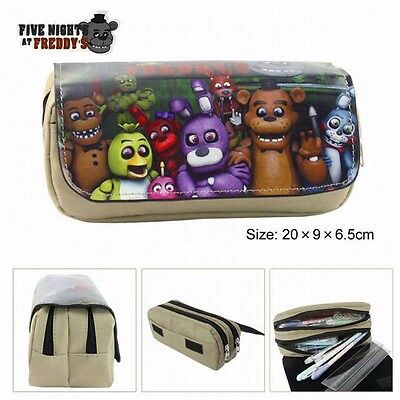 Pencil Case FNAF Five Nights at Freddy's  Stationery Make Up Bag Pouch Purse NEW