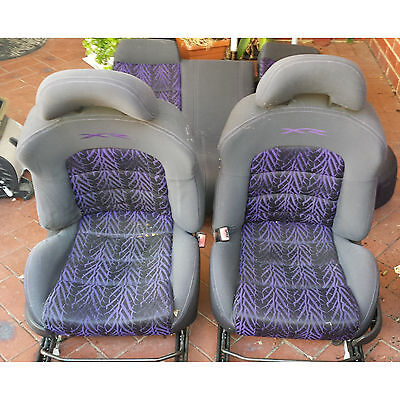 Genuine Ford BA XR6T Turbo XR8 Purple Seat Covers Only Front & Back in Phantom