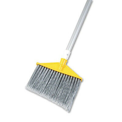 "Rubbermaid 48-7/8"" Poly Bristles Lg. Angled Broom (Silver/Gray) 6385GRA NEW"