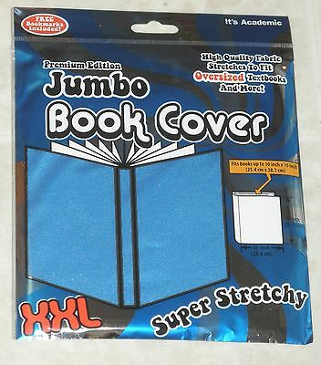 It's Academic Jumbo LIGHT BLUE STRETCHABLE BOOK COVER- free U.S. Shipping