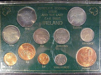 Ireland Decimal and Last LSD Issue Set of 11 Coins     ** FREE U.S. SHIPPING**