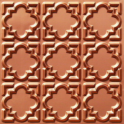 # 142 Copper 2' x 2' PVC Faux Tin Decorative Ceiling Tile Panels Glue-Up