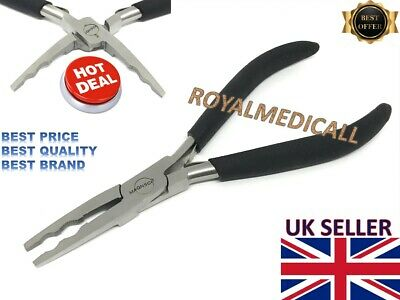 """Hair Extensions STEEL PLIER 5"""" Black For Removing MICRO RINGS Beads And PRE BOND"""