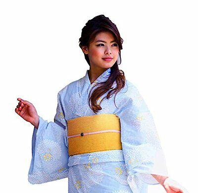Women Traditional Japanese Kimono Robe Yukata Obi Belt Set Japan Anime Mt.Fuji