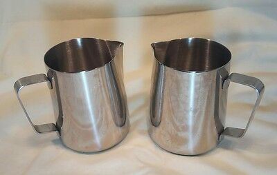 2- 22 Ounce Espresso Milk Frothing Pitchers. -- Stainless Steel