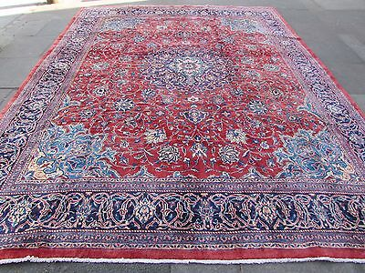Old Traditional Hand Made Persian Rugs Oriental Wool Red Large Carpet 385x300cm