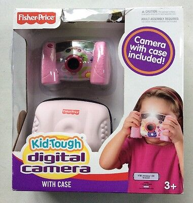 Fisher Price Kid Tough Digital Camera with Case - Pink NEW / DAMAGED BOX