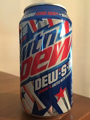 Mountain DewSA Limited Edition Single New Unopened Can USA Mountain Dew.S.A