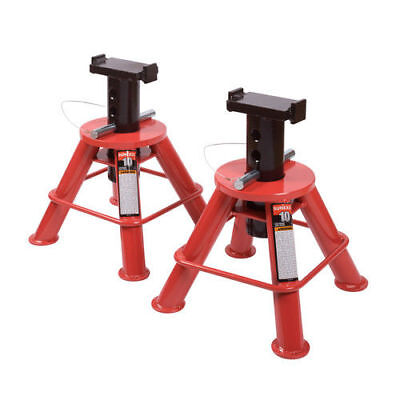 Sunex Tools 10 Ton Low Height Pin Type Jack Stands(Pair) 1210 NEW