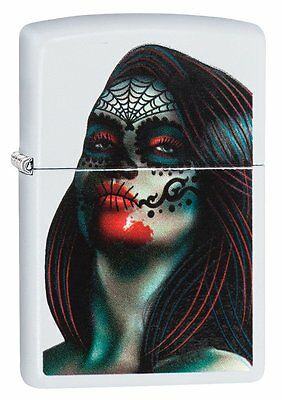 Zippo DAY OF THE DEAD LADY TATTOO Pocket Lighter WindProof New With Box