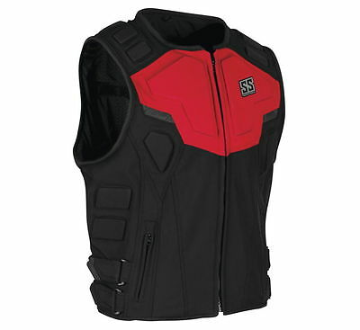 Speed & Strength Men's Critical Mass Armored Vest [Red,Large]