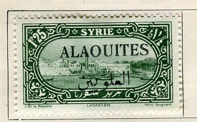 .ALAOUITES;  1925 early Pictorial Optd. issue Mint hinged 1.25Pi. value