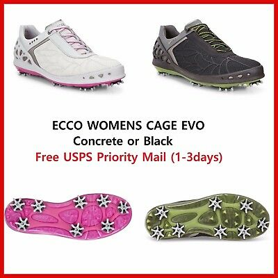 2017 New Ecco Womens Golf Shoes  Cage Evo Black / Silver EU36 37 38 39 $200