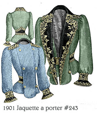 Edwardian Pattern for 1901 Jacket - Sized for you