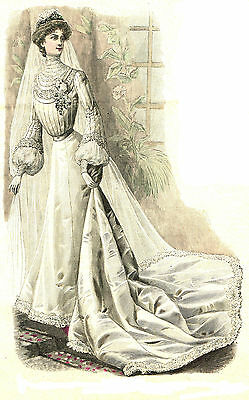 Victorian Pattern for 1903 Wedding Gown with Ballgown option - Sized for you