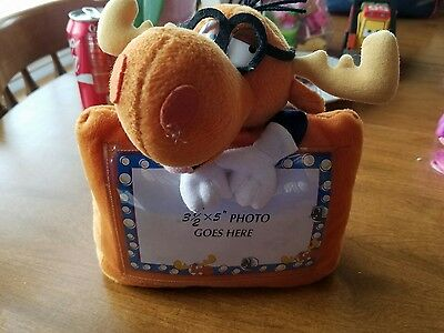 Rocky and Bullwinkle and friends plush picure frame clean photo frame
