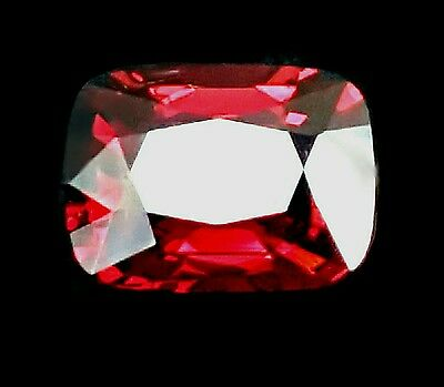 Exquisite 4cts Natural Reddish Pink Spinel VVS from Borma cushion, watch video