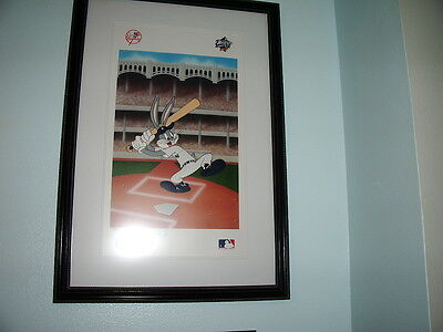 Warner Brothers, Bugs Bunny - Batter Up Doc, Serial Lithograph - Framed