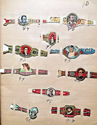 Antique Cigar Band Collection 460 Bands American Cuban Foreign