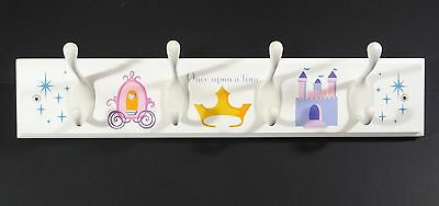Disney Princess Cinderella Once Upon a Time Wall Hanger Peg Rack Clothing Coat