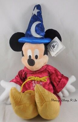 """New Disney Parks Authentic Original 2016 Music Sorcerer Mickey Mouse Plush 15"""""""