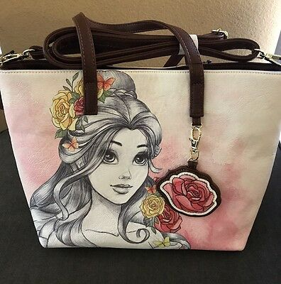 DISNEY PARKS BEAUTY AND THE BEAST Belle Water Color Boutique Purse New
