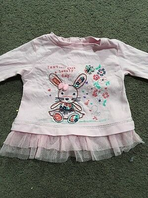 Baby Girls Long Sleeve Top Size 000 GUC
