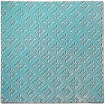 Salvaged, by BCI Crafts Tin Ceiling Tile, Raw Metal Rosette New