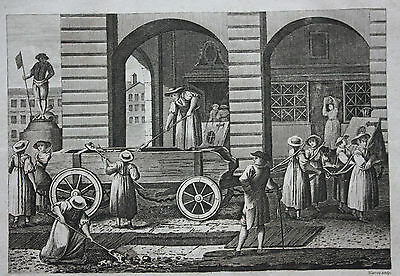 Original antique print PUNISHMENT OF PROSTITUTES, SWITZERLAND, Cooke c.1810