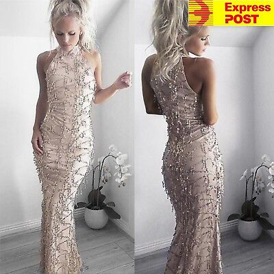 Women's Sequin Long Mermaid Prom Evening Formal Party Bridesmaid Maxi Dress