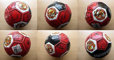 2012-13 Man Utd Official Champions Football Signed by Squad (10538)