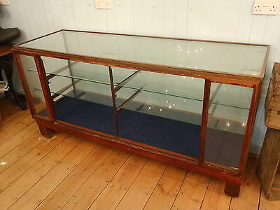 Antique Glass / Mahogany Showcase Or Shop Counter Cabinet