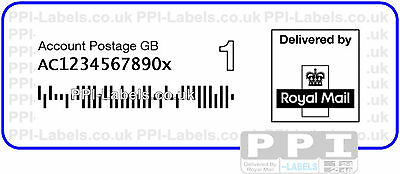 1000 1st Class ROYAL MAIL 1C BARCODE PPI Labels on Rolls UNA-1ST-ROLL 75x25 UNG