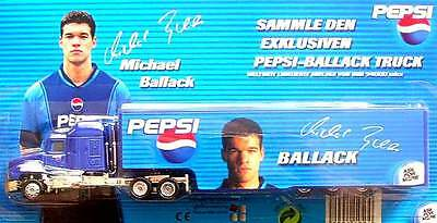 Ho 1:87 Pepsi Cola  Football Truck Us-Mack Semi Trailer With *ballack*