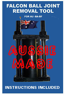 BALL JOINT REMOVAL & REPLACEMENT TOOL AU BA Ford Falcon done on car upper&lower