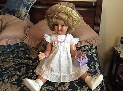 Huge Vintage Hard Plastic Doll 30 Inches Tall.