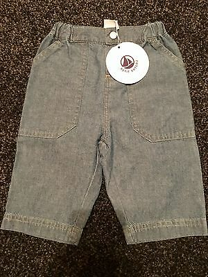 Petit Bateau Baby Boys Summer Trousers BNWT Up To 3 Months