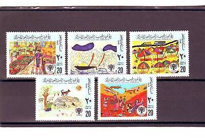 a128 - LIBYA - SG889-893 MNH 1979 INTERNATIONAL YEAR OF THE CHILD