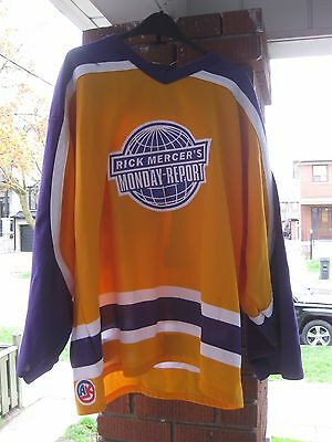 Hockey Jersey Rare Vintage Rick Mercer's Monday Report XL