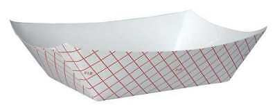 "5-13/16"" Disposable Food Tray, Red and White ,Dixie, RP3008"