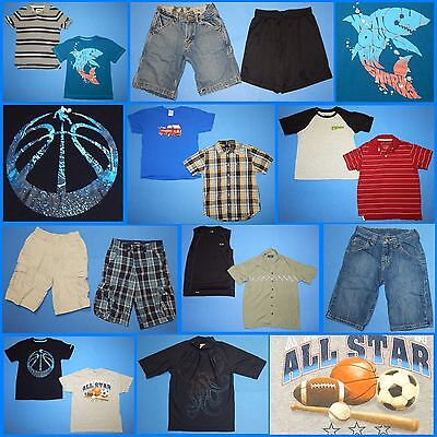 16 Piece Lot of Nice Clean Boys Size 8 Spring Summer Everyday Clothes ss292