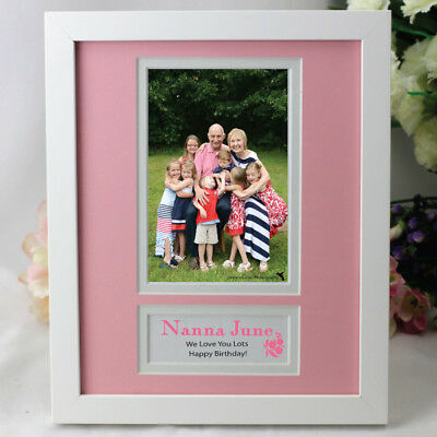 Personalised Nanna Photo Frame - Pink - Add a Name & Message