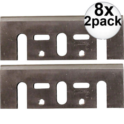 "Makita D-46230 8x 2pk 3-1/4"" High Speed Steel Planer Blades (old # D-17217 New"