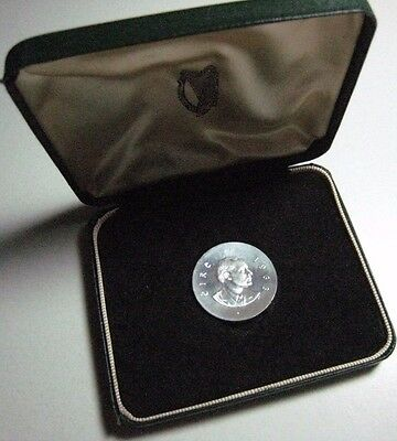 1966 Ireland Silver Schilling Pf Easter Up Rise in Case ** FREE U.S. SHIPPING **